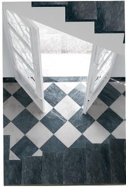 QC Antique Black & White Entry
